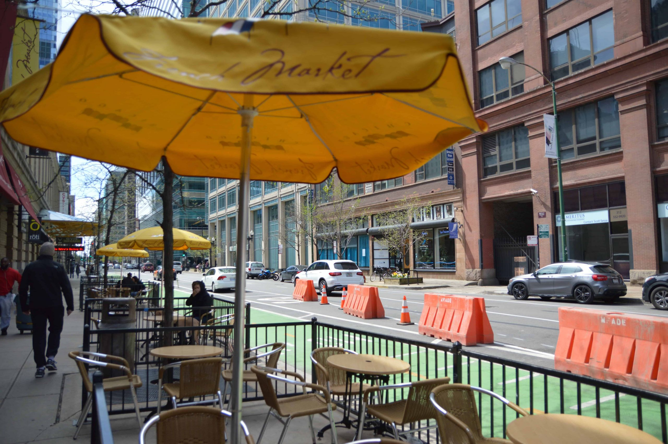 Outdoor Seating at the Chicago French Market