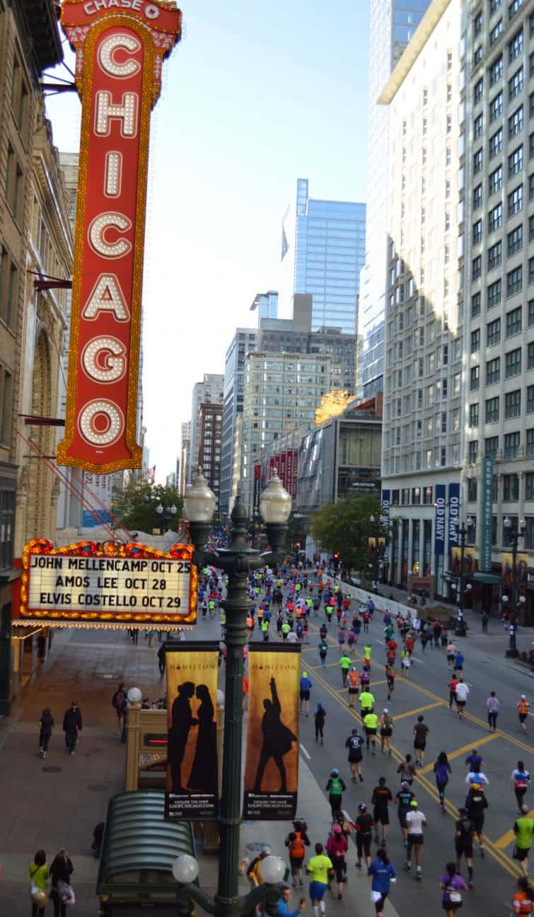 Runners at Chicago Marathon Weekend