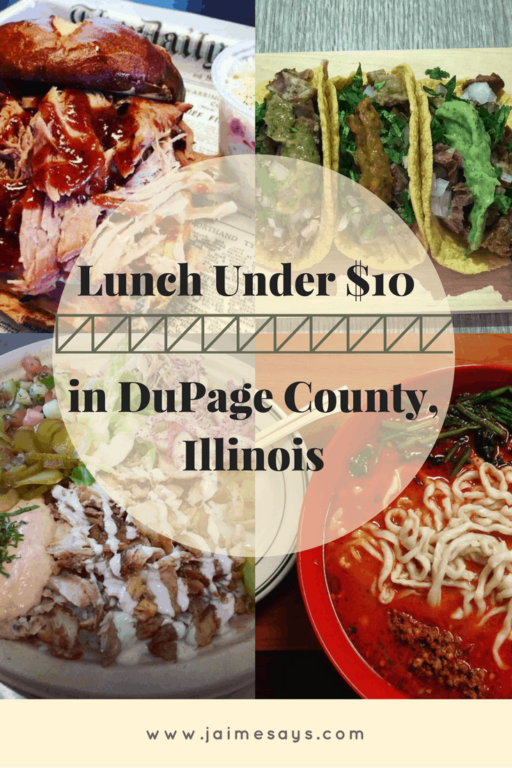 Lunch Near Me Under $10: Downers Grove Edition