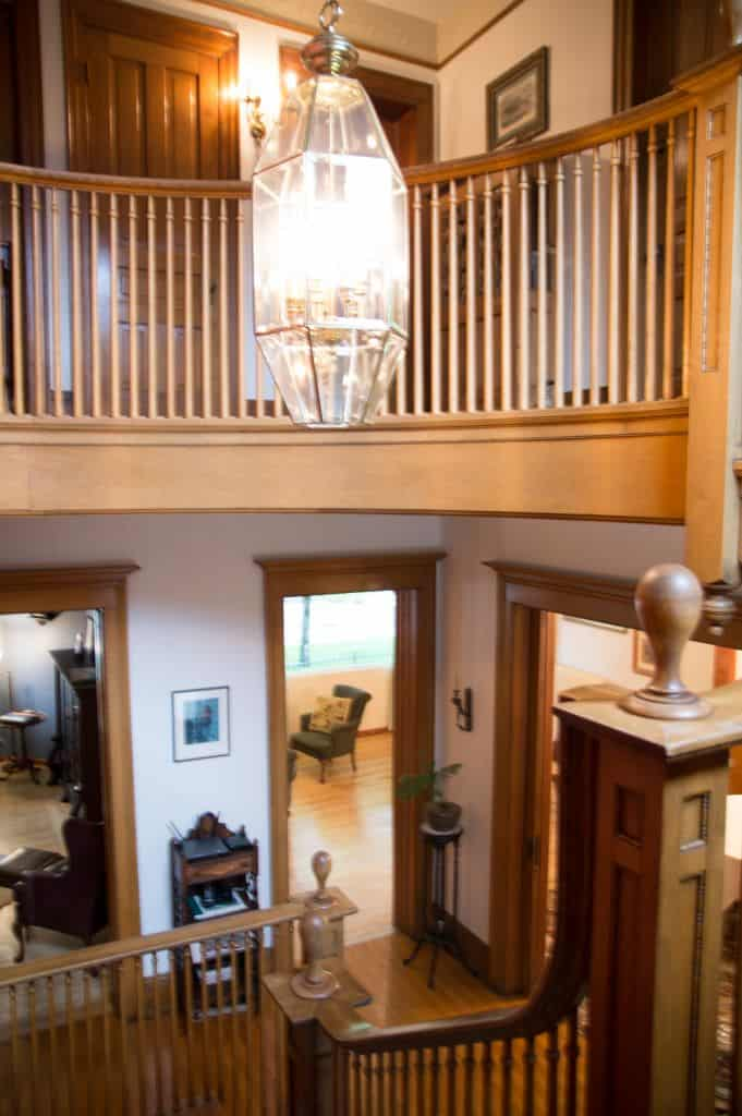 How gorgeous is this staircase??? Ludington MI Hotels | The Lamplighter Inn | Lamplighter Bed and Breakfast | Ludington Hotels | Western Michigan | Waterfront Michigan | Lake Michigan Bed and Breakfast