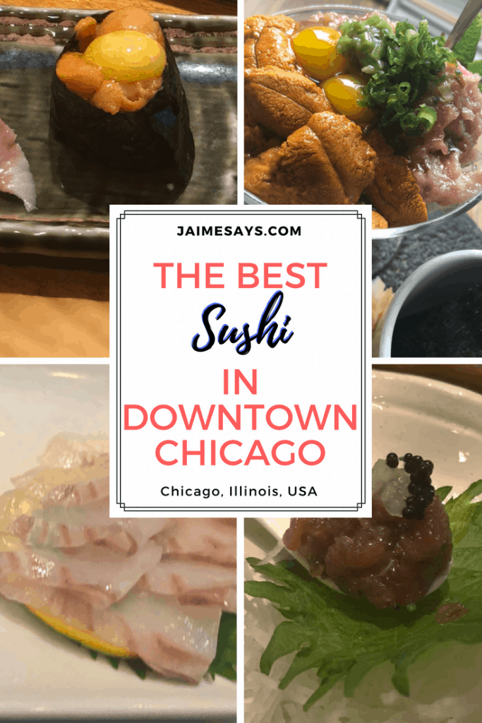 Looking for the best sushi in downtown Chicago? Check out this list for the four best of the best in Chicago, Illinois, USA. sushi downtown Chicago | Chicago's Finest Sushi Spots| Chicago Blogger| Sushi in downtown Chicago