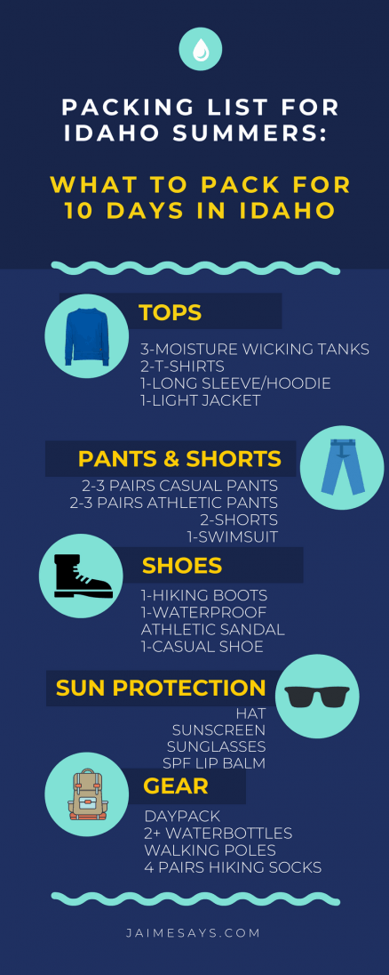 Packing List for Idaho | What to Pack for Idaho |10 Days in Idaho | Packing Lists for The West