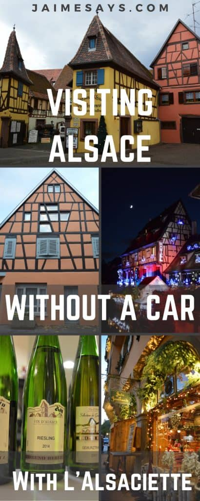 Looking for a way to visit Alsace without a car? This region of France doesn't have much in the way of public transportation, but I've got a great way for you to experience the best of Alsace without a car.