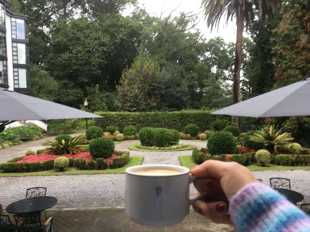 Coffee in a palace at Parador Limpias, Visit Cantabria