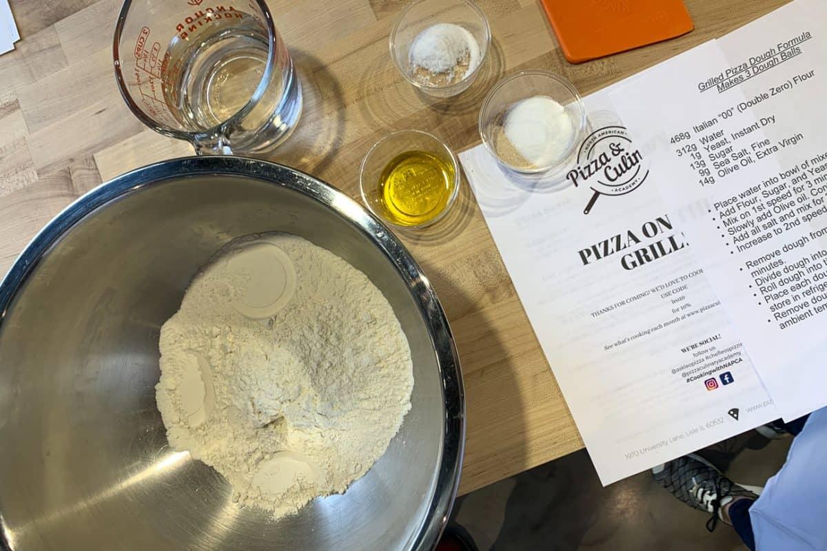 Pizza Classes Fixins for Pizza Dough