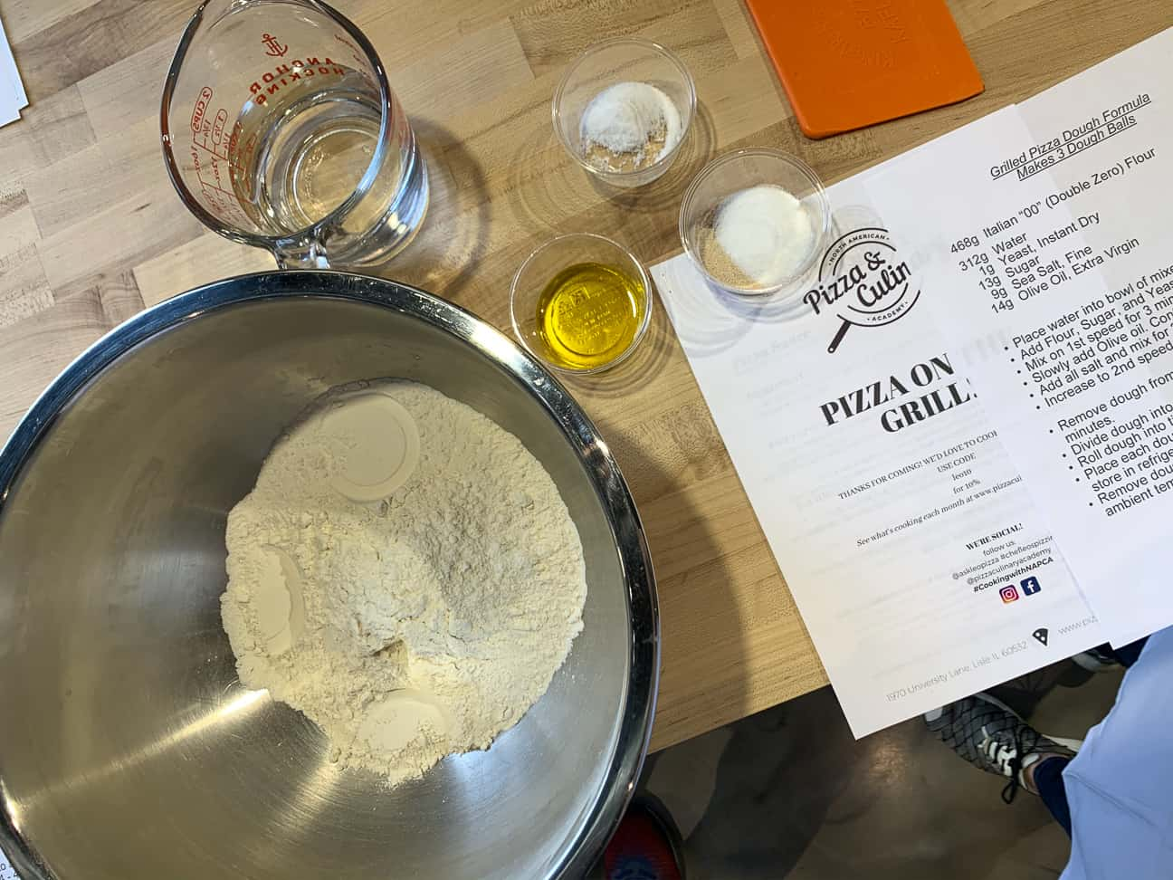 Pizza Classes Fixins for Pizza Dough