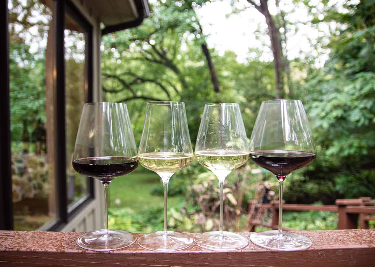 The lineup of Grassl Unique Wine Glasses